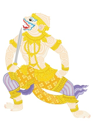 sward: HANUMAN great warrior of RAMA