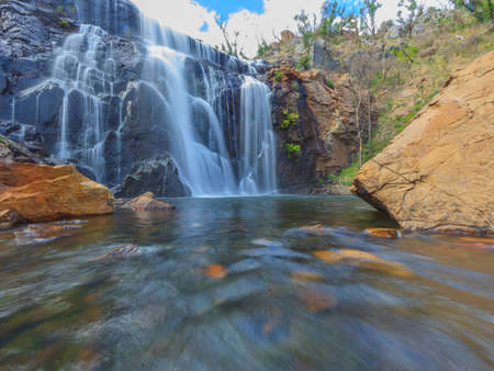 Photograph of a waterfall in South Australia with long exposure times during the day in March 2015