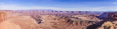 View on typical rock formations in Conyonlands National Park in Utah
