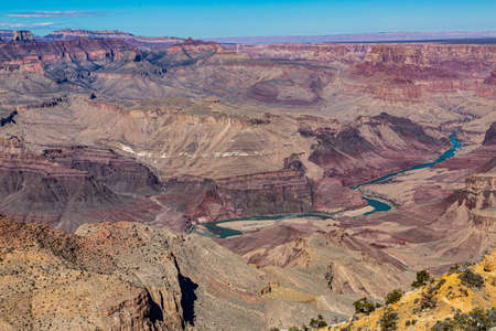 Panoramic view from south cliff of Grand Canyon