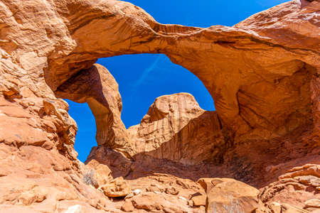 View on Double Arch in the Arches National Park