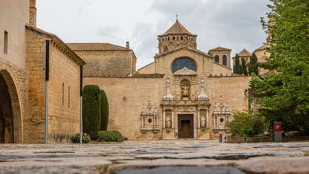 View on entry gate of monastery of Poblet in Spain