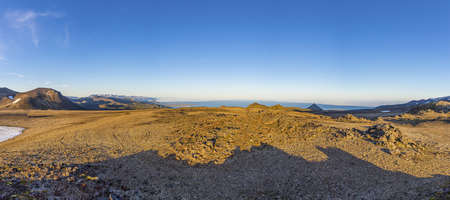Panoramic view from Snaefellsj