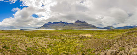 Picture of wild and deserted nature in eastern iceland in summer during daytime