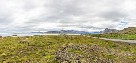 Picture of wild and deserted nature in eastern iceland in summer