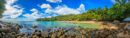 Photo of Laem Sing Beach on the Thai island of Phuket photographed during the day in blue skies and sunshine in November 2013