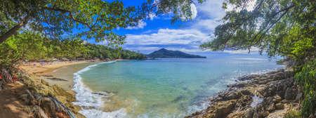 Panoramic view of Laem Sing Beach on Phuket