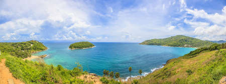 Panoramic view from Phromtep View Point on Phuket Archivio Fotografico