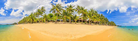 Panoramic picture of a beach in Thailand during daytime Archivio Fotografico