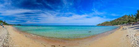 Panoramic picture of paradisiac beach on Phuket Archivio Fotografico