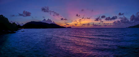 Photo of a sunset on Phuket Island in Thailand with unusual play of colors photographed in November 2013