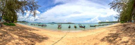 Panoramic view of Rawai Beach Archivio Fotografico