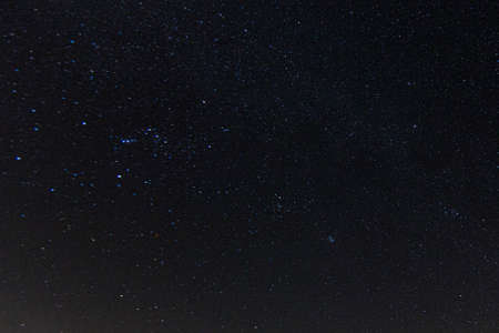 Picture of cloudless starry sky at nighttime at northern hemisphere in summer