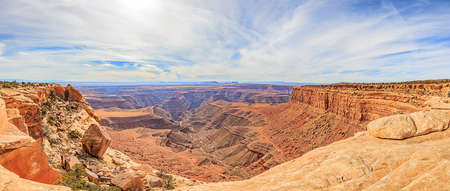 Panoramic view from Muley Point over Colorado river canyon