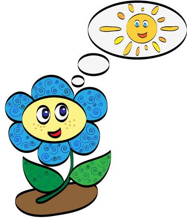 Beautiful daisy dreams of the sun Vector