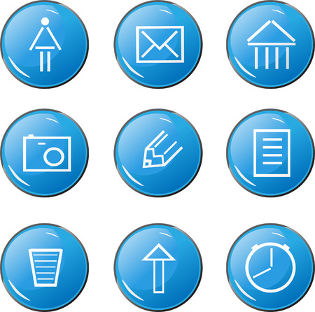 The blue buttons for menu Vector
