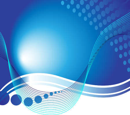 cyberspace: Beautiful blue background with wave lines