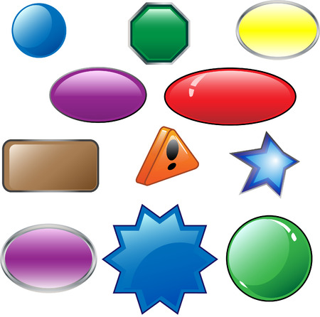 Other examples of empty buttons of different colors Vector