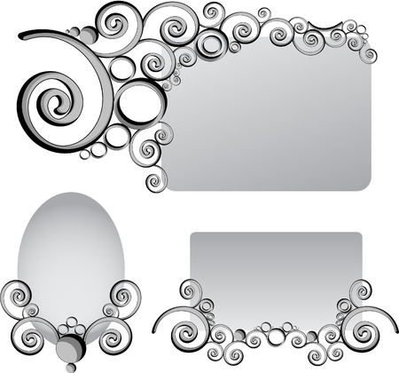 Shaped patterns of frames to the text Stock Vector - 6867838