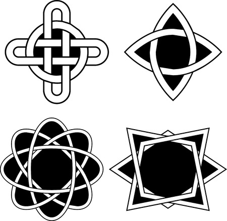 paganism: Set with Celtic designs Illustration