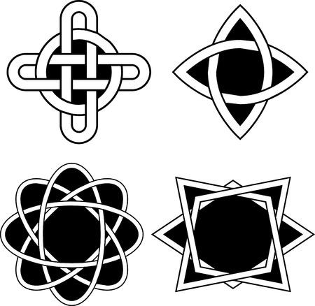 celt: Set with Celtic designs Illustration