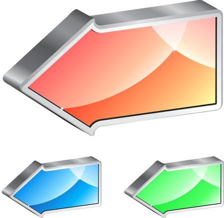 shinning: Conjunto de una brillante colores diferentes de la flecha Vectores