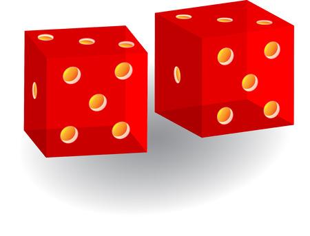 total loss: 3d glass casino cubes