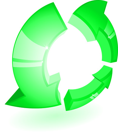 recycling campaign: Green recycling symbol Illustration