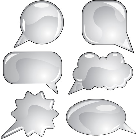 Speech bubbles different forms Stock Vector - 7919105