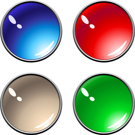 Sample internet buttons different colors Stock Vector - 7919099