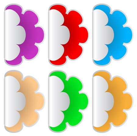A set of colored stickers Vector