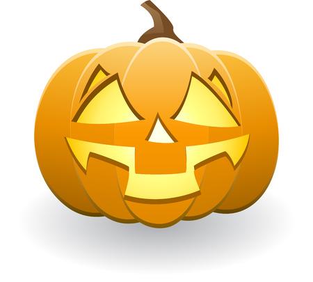 Illuminated Halloween pumpkin Stock Vector - 7919094
