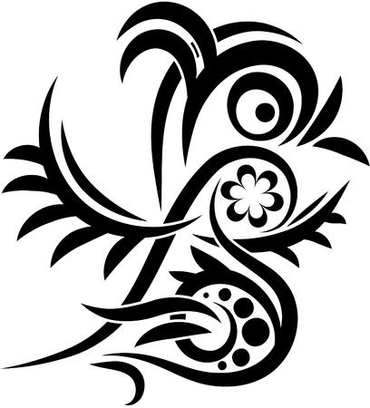 Bird tatoo Vector