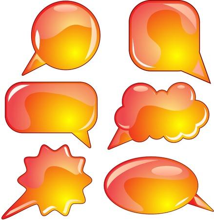 Flame speech bubble set Stock Vector - 8583466