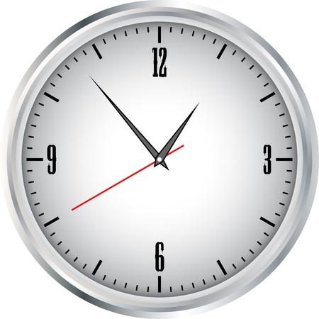 Clock grey Vector