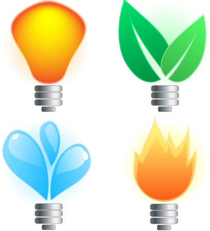environmental conservation: Abstract lightbulb