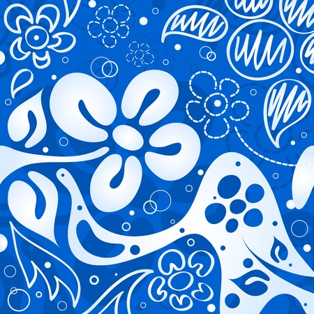Blue flowers background Stock Vector - 9342932