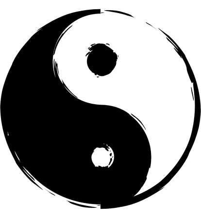 struggling: Symbol of yin-yang
