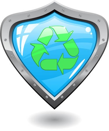 Recycling shield Vector