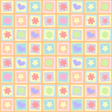 Seamless kid background Vector