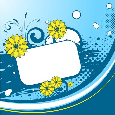 fancy border: Azul floral