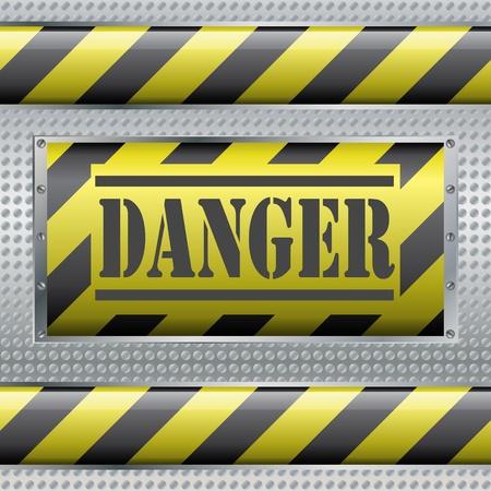 Danger sign Stock Vector - 9720897