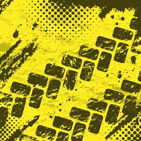 tyre tracks: Dos neum�ticos pistas de fondo Vectores