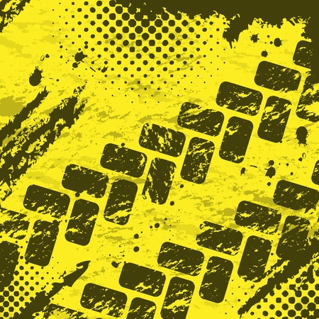 tire print: Tire tracks background two