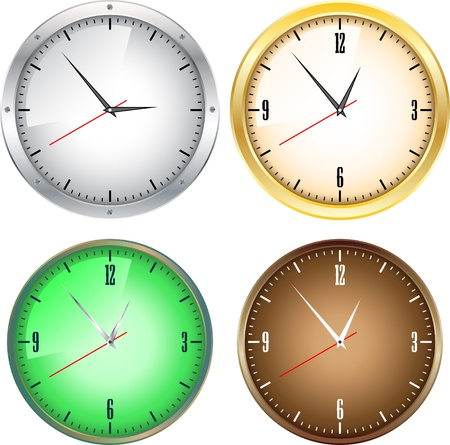 Office clocks Vector