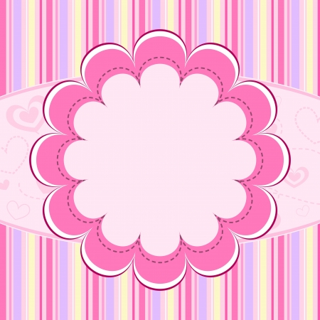Pink kid background Stock Vector - 10206924