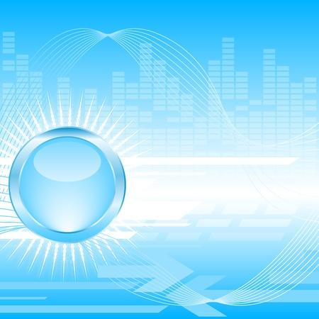 bright future: Techno background