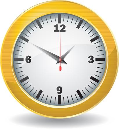 Golden clock Vector
