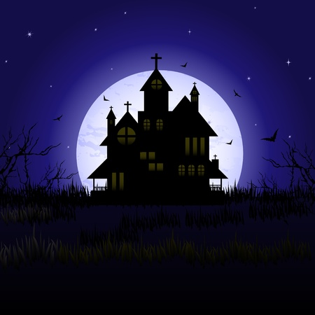 Halloween castle Stock Vector - 10927064