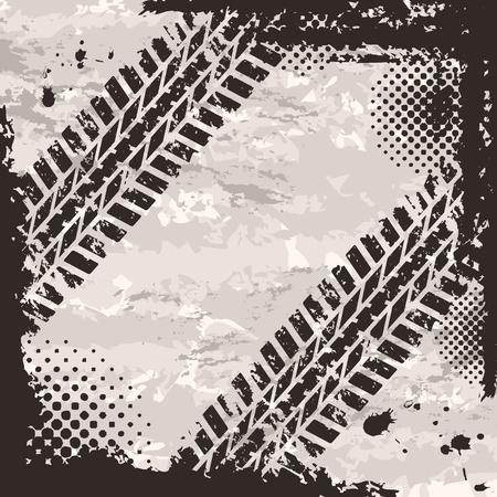 eisenbahn: Tire track Hintergrund Illustration